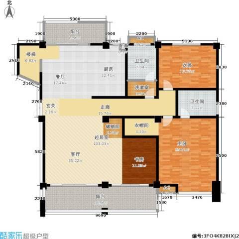 金鸡湖花园2室0厅2卫0厨220.00㎡户型图
