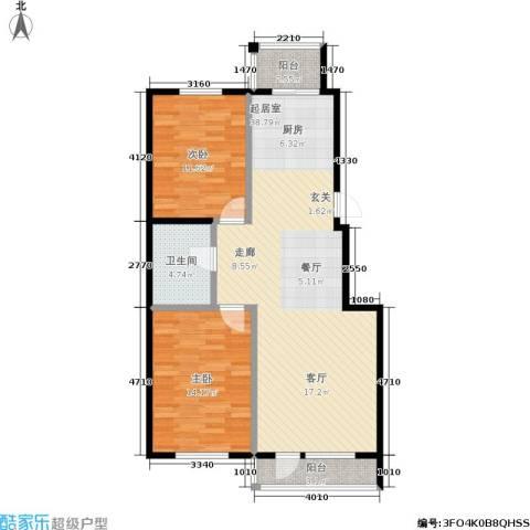 保利上林湾一期2室0厅1卫0厨98.00㎡户型图