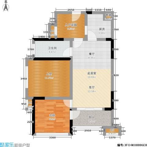 万科金域华府1室0厅1卫1厨89.00㎡户型图