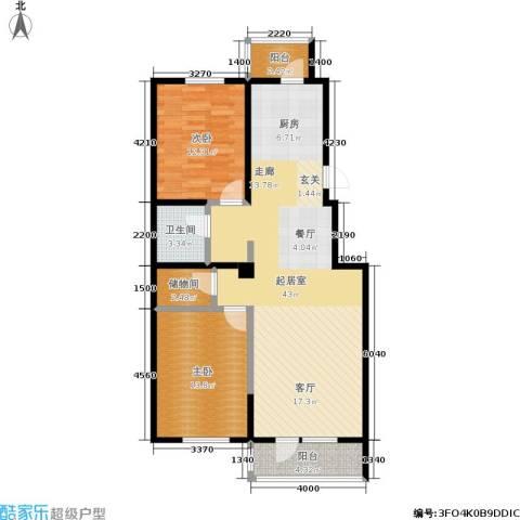保利上林湾一期2室0厅1卫0厨106.00㎡户型图