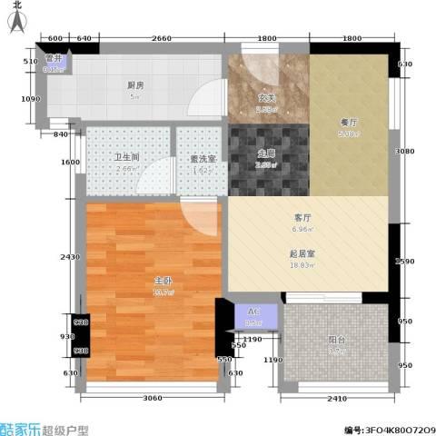 合肥金水童话名苑1室0厅1卫1厨57.00㎡户型图