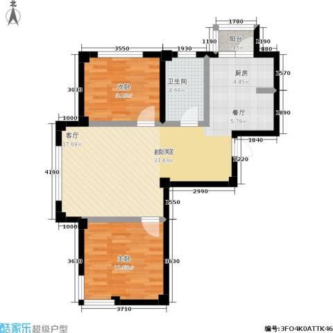 福佳绿都2室0厅1卫0厨88.00㎡户型图