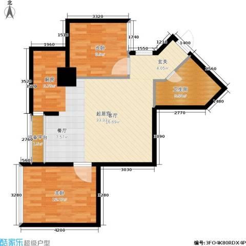 东方银座 东方银座2期2室0厅1卫0厨70.00㎡户型图