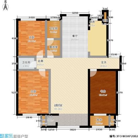 颐和香榭3室0厅2卫0厨141.00㎡户型图