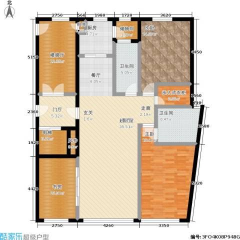 五四华庭3室0厅2卫1厨128.85㎡户型图
