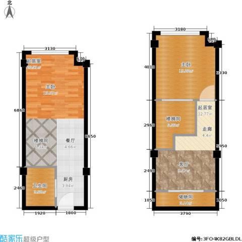宁波大公馆1室0厅1卫0厨65.55㎡户型图