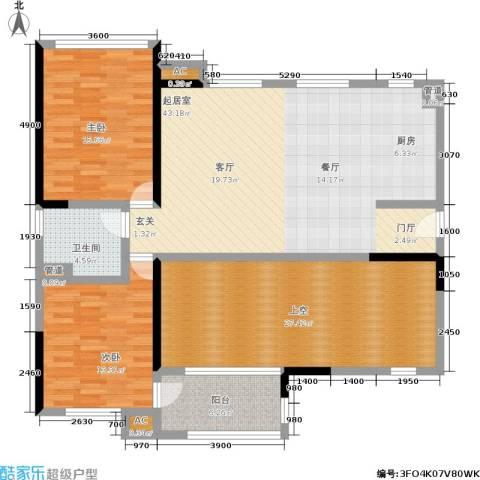 万科金域华府2室0厅1卫0厨157.00㎡户型图