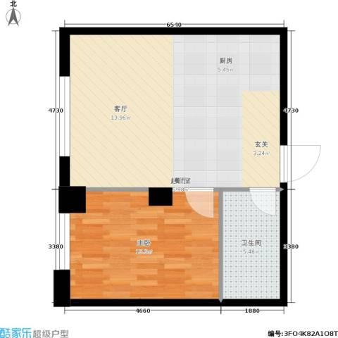 达人社馆1室0厅1卫0厨53.00㎡户型图