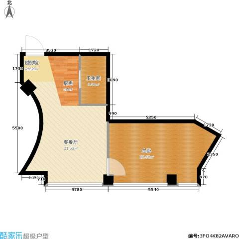 东方银座 东方银座2期1室0厅1卫0厨59.00㎡户型图