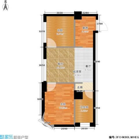达人社馆2室0厅1卫0厨58.00㎡户型图