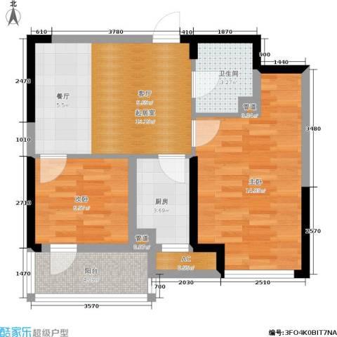 绿地老街坊三期 绿地国际花都2室0厅1卫1厨72.00㎡户型图