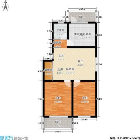 仁和翠苑2室0厅1卫1厨84.00㎡户型图