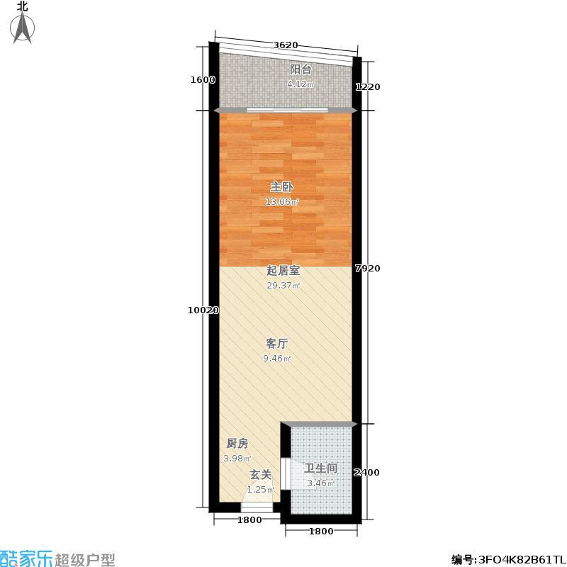 香樟俊园五栋公寓O户型