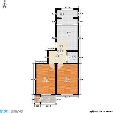 宏颐泷园2室0厅1卫1厨72.00㎡户型图