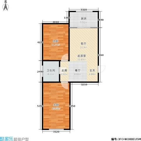 绿景园2室0厅1卫1厨63.00㎡户型图