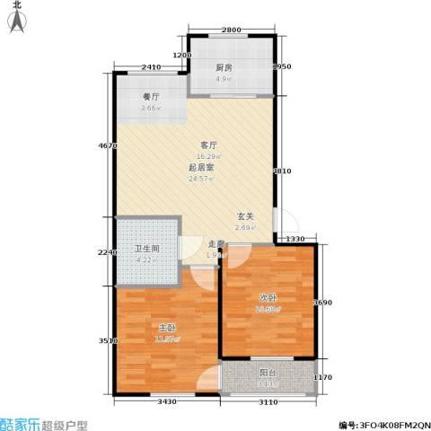 绿景园2室0厅1卫1厨64.00㎡户型图