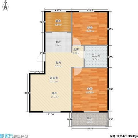 绿景园2室0厅1卫1厨73.00㎡户型图
