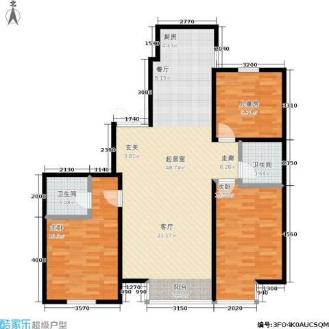 明城嘉苑3室0厅2卫0厨133.00㎡户型图