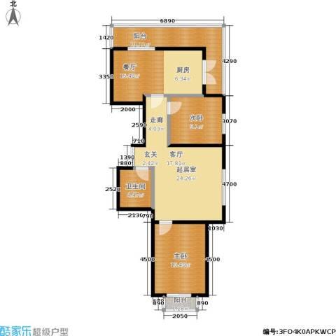 明城嘉苑2室1厅1卫0厨79.20㎡户型图