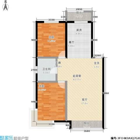 明城嘉苑2室0厅1卫0厨78.00㎡户型图