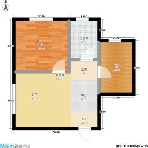 明城嘉苑1室0厅1卫1厨49.00㎡户型图