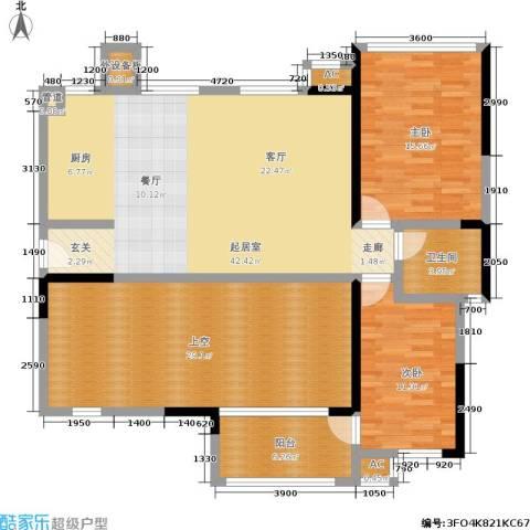 万科金域华府2室0厅1卫0厨156.00㎡户型图