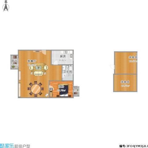 星晨花园八期1室1厅1卫1厨131.00㎡户型图