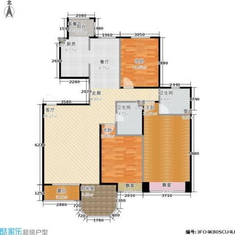 中远颐和丽园二期3室1厅2卫0厨130.00㎡户型图