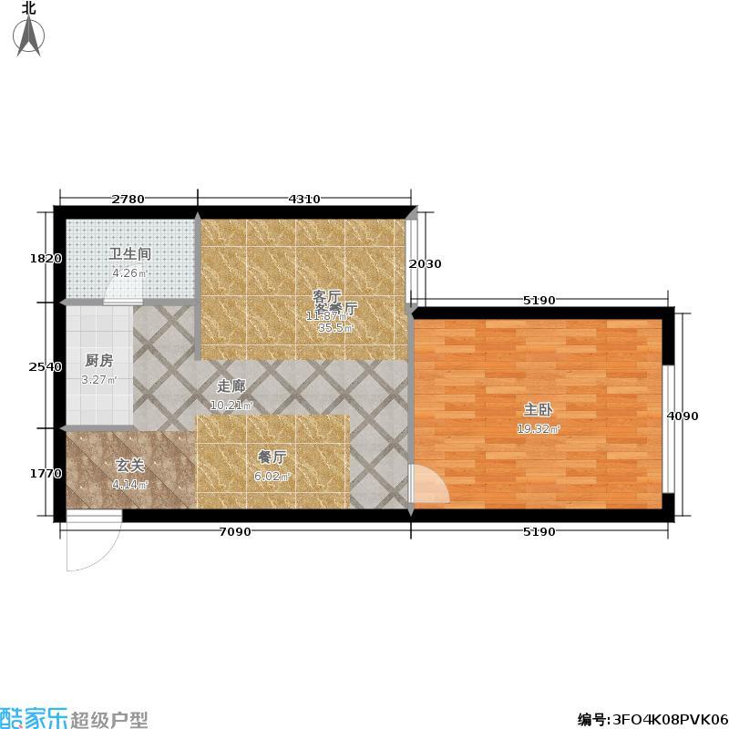 东方星海户型1室1厅1卫