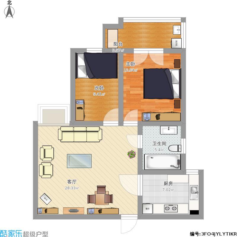 95方 两室两厅