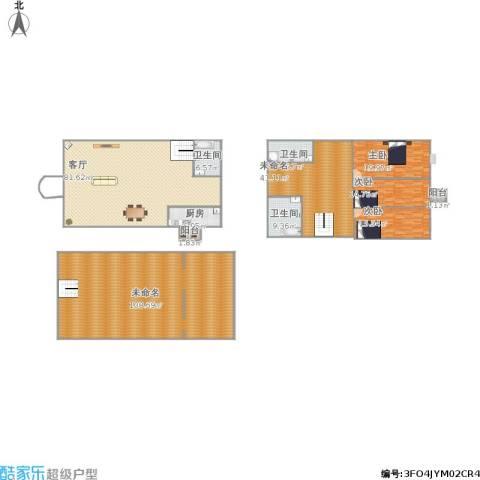丰泽湖山庄2室1厅3卫1厨412.00㎡户型图
