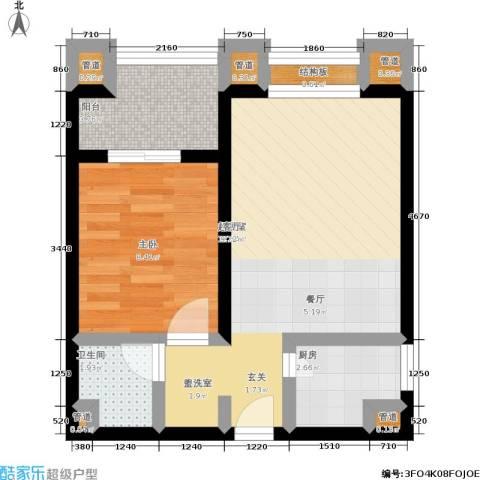 中联.新天地1室0厅1卫1厨56.00㎡户型图