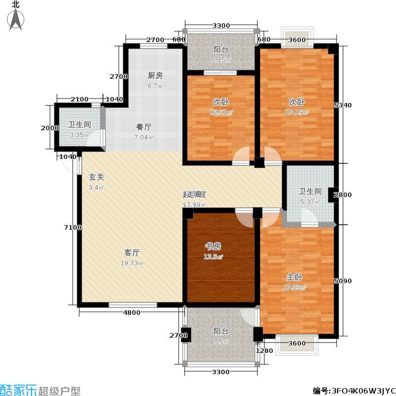 联峰时代151.00㎡房型户型