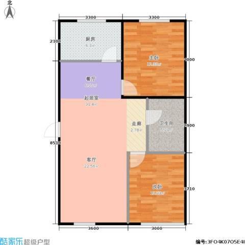 祥龙国际大厦2室0厅1卫1厨88.00㎡户型图