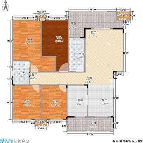 福江・名城 名城4室1厅2卫1厨150.43㎡户型图