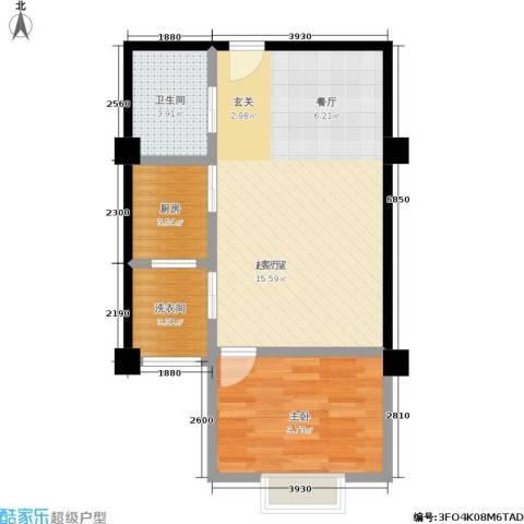 秦晋青年公寓1室0厅1卫1厨51.00㎡户型图