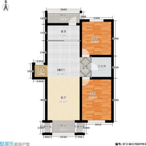 金沙水木城典2室1厅1卫1厨104.00㎡户型图