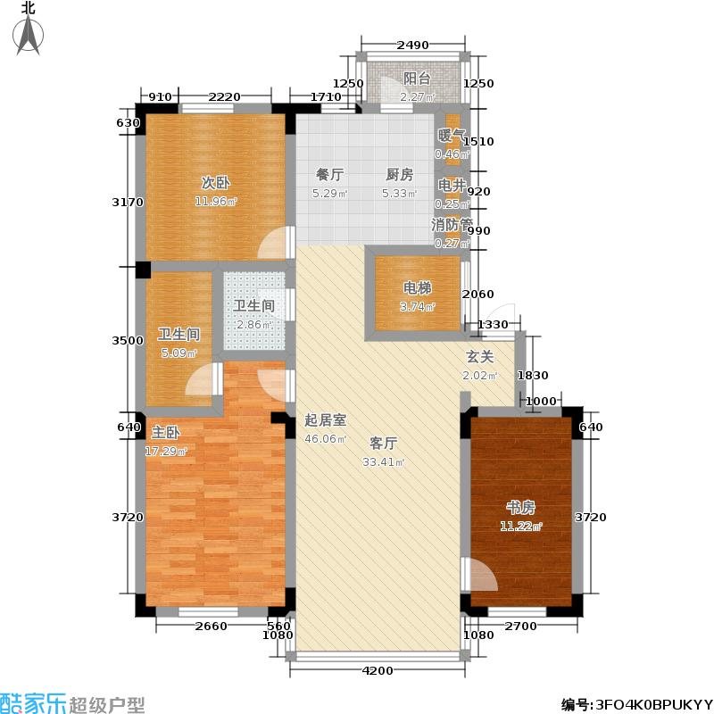 城建东逸花园二期131.00㎡房型户型