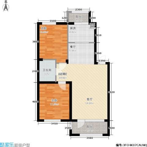 保利花园第六区2室0厅1卫1厨89.00㎡户型图