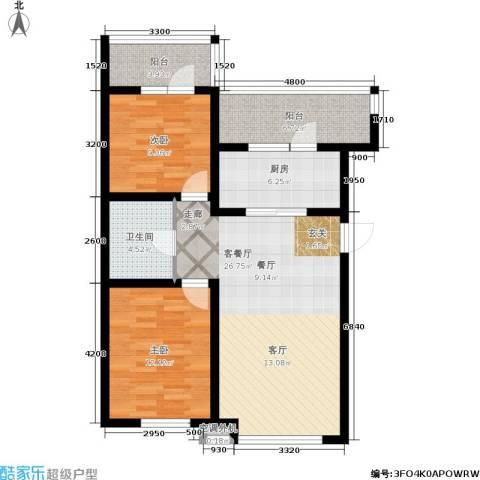 金沙水木城典2室1厅1卫1厨101.00㎡户型图