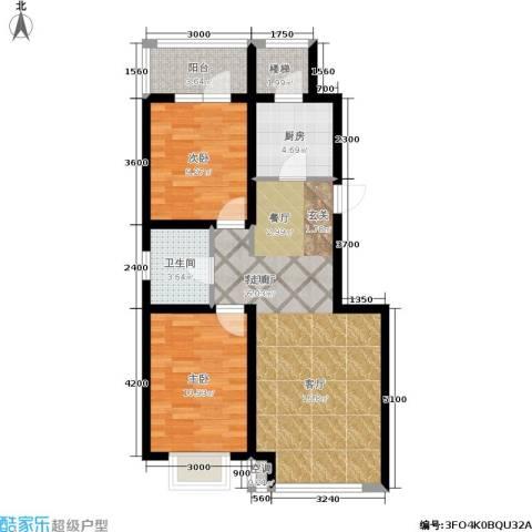 金沙水木城典2室1厅1卫1厨90.00㎡户型图