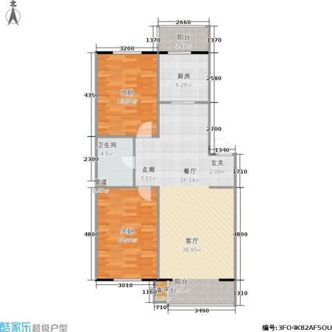 君悦美景2室1厅1卫1厨93.00㎡户型图