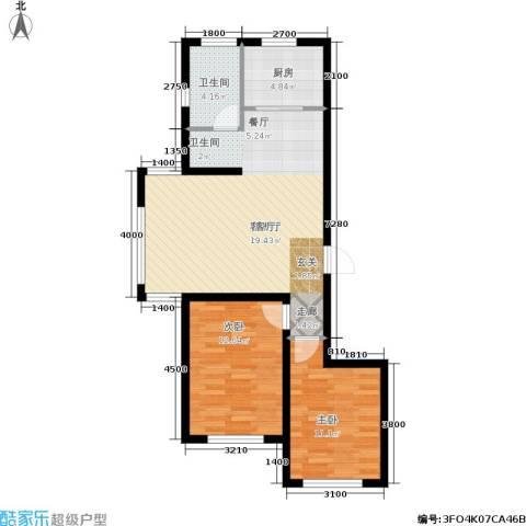金鼎阳光苑2室1厅1卫1厨89.00㎡户型图