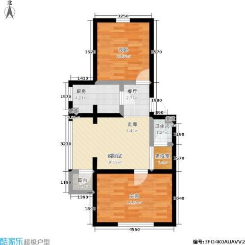 雅馨苑二期2室0厅1卫1厨54.93㎡户型图