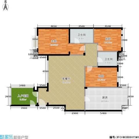万科城三期一区3室1厅2卫1厨185.00㎡户型图
