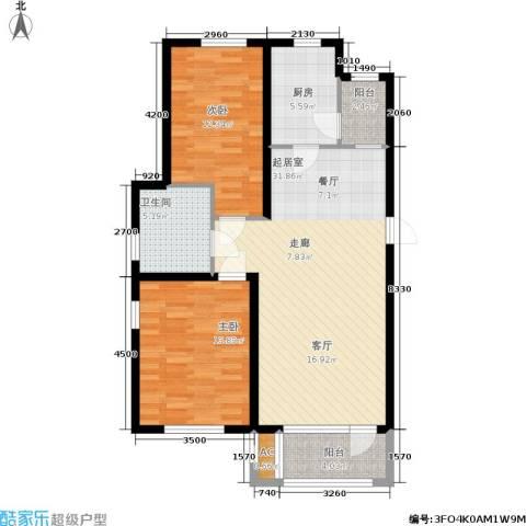 保利花园第六区2室0厅1卫1厨108.00㎡户型图
