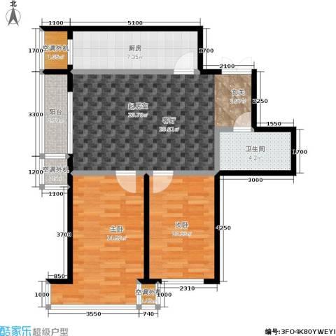 世博・吾派2室0厅1卫1厨94.00㎡户型图