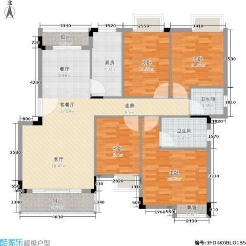 世纪春城4室1厅2卫1厨123.00㎡户型图
