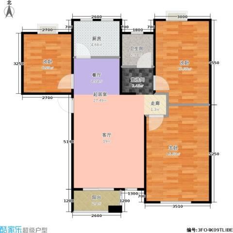 阳光洛可可3室0厅1卫1厨90.00㎡户型图