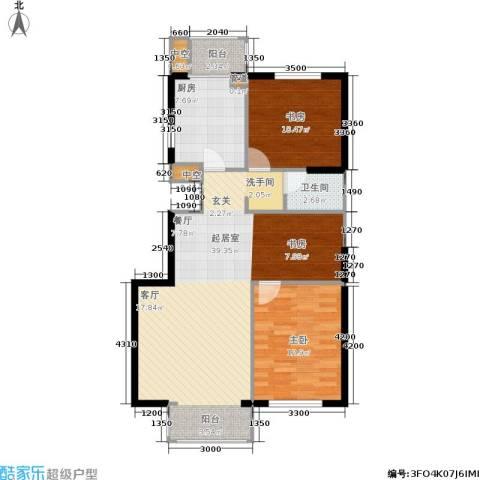 文华园2室0厅1卫1厨98.00㎡户型图